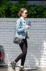 Lily Collins Leaving Chateau Marmont In Los Angeles