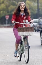 Sandra Oh On A Bike Ride In Los Angeles