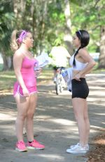 Carmen Valentina And Cleo Do A Photoshoot At A Park In