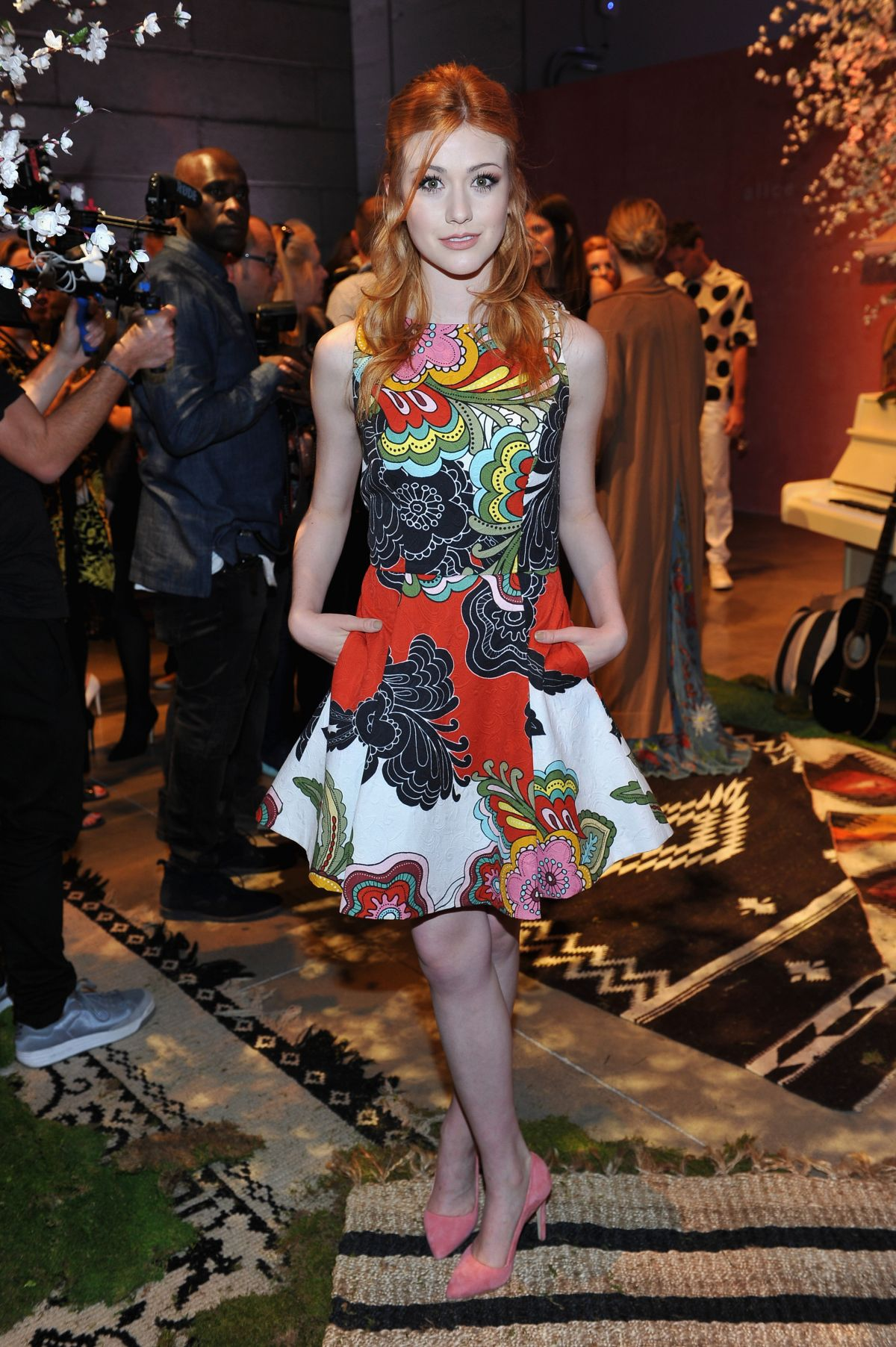 63a43ff0723 Katherine McNamara At alice + olivia by Stacey Bendet and Neiman Marcus  See-Now-
