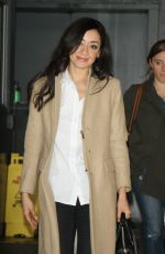 Aimee Garcia Outside AOL Build In New York