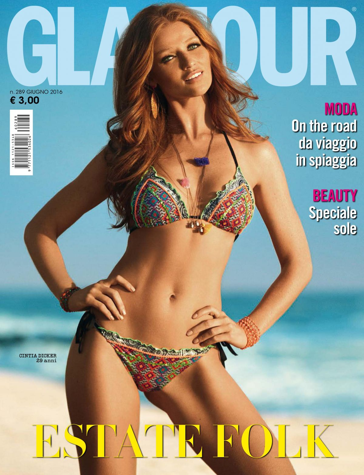 Cintia Dicker In Glamour Italy June 2016