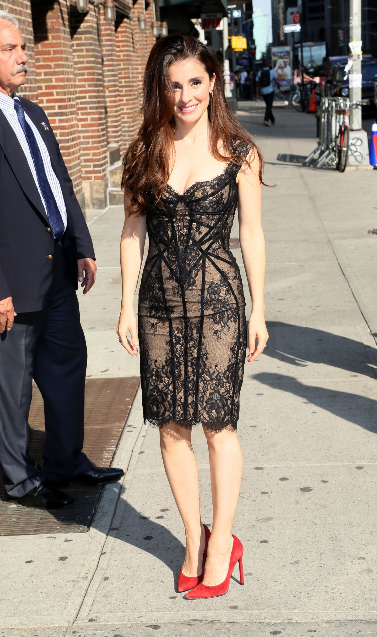 """Shiri Appleby At """"The Late Show With Stephen Colbert"""", NYC"""