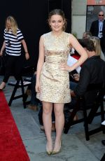 Joey King At Roland Emmerich Hand & Footprint Ceremony In Los Angeles