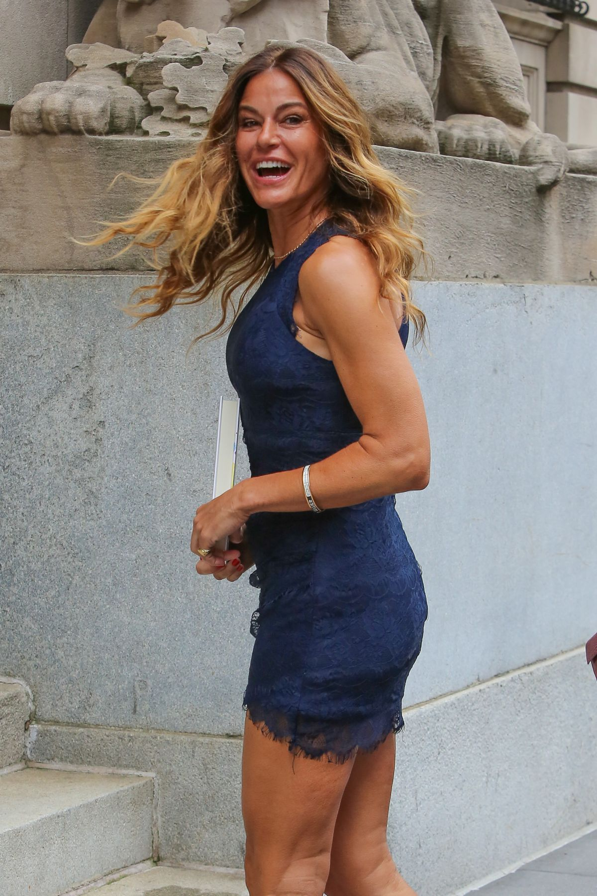 Kelly Bensimon Leaves AOL Studios In New York