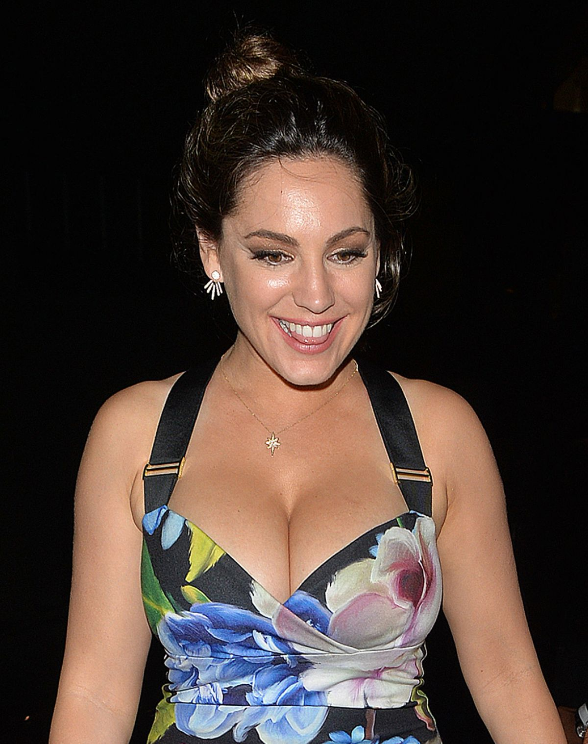 Kelly Brook Enjoys a night out in Mayfair, London