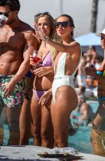 Megan McKenna In Swimsuit At Poolparty In Marbella