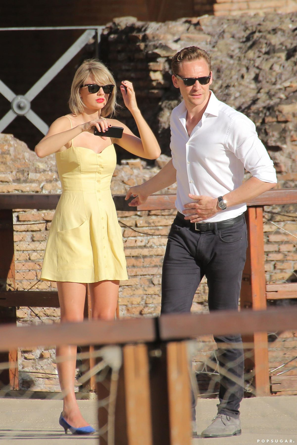 Taylor Swift With her boyfriend Tom Hiddleston In Rome ...