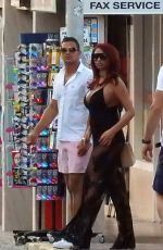 Amy Childs Out and about in Ibiza
