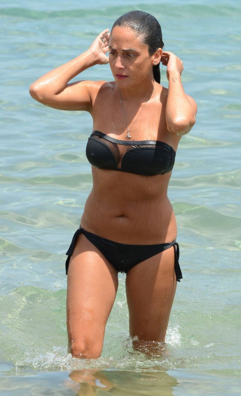 Asya Engin In Bikini Golkoy Fiko Beach, Bodrum