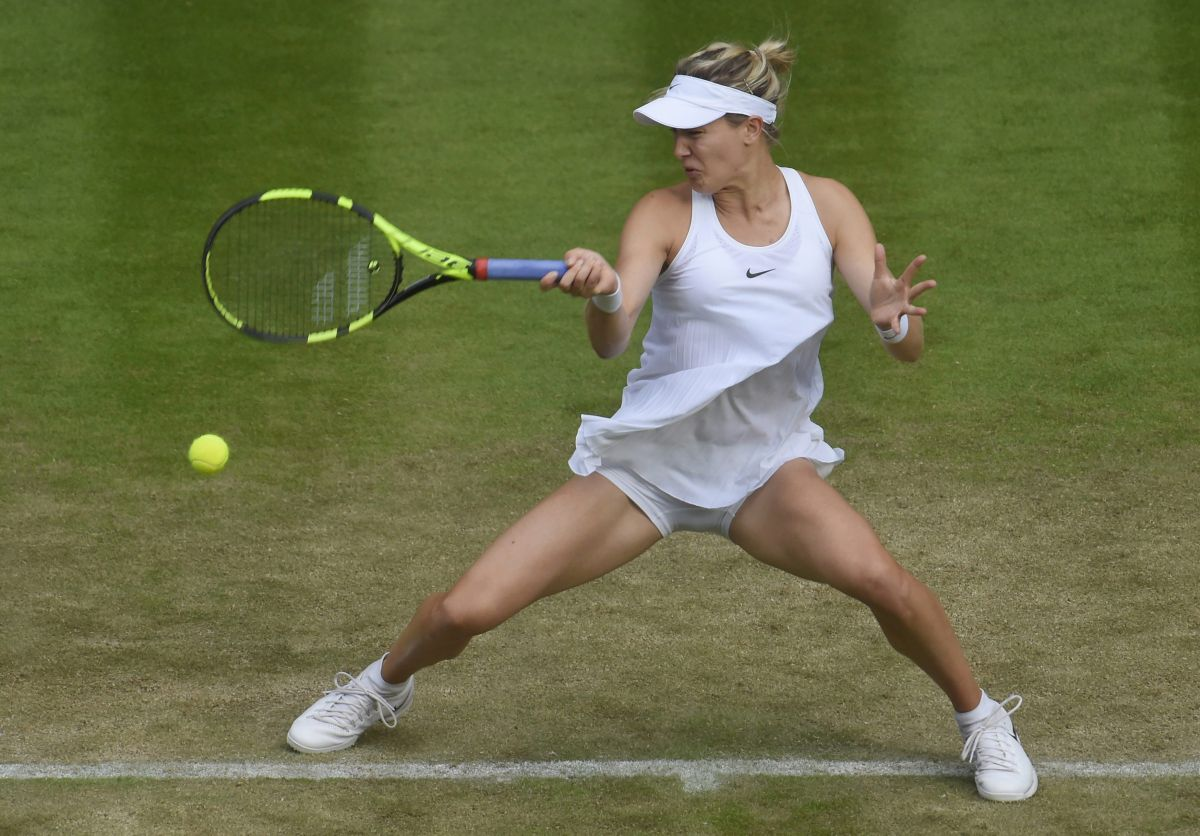 Eugenie Bouchard At 2nd round at The Wimbledon Tennis Championships in London