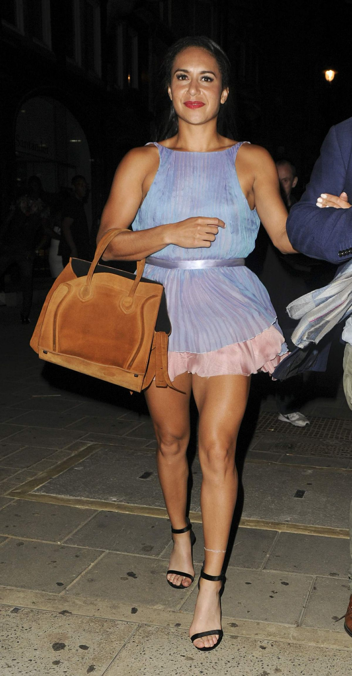 Heather Watson Seen At Tape Nightclub For The Wireless