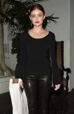 Lucy Hale At Elizabeth and James store opening party held at Chateau Marmont