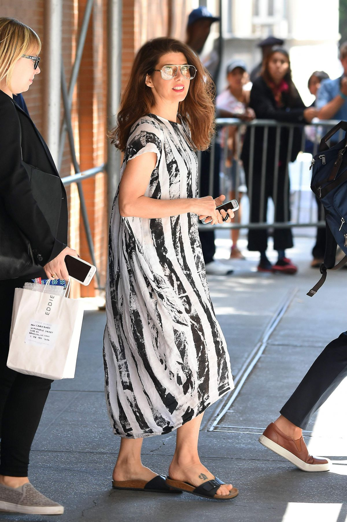 Marisa Tomei Seen Out In Manhattan In A Black And White