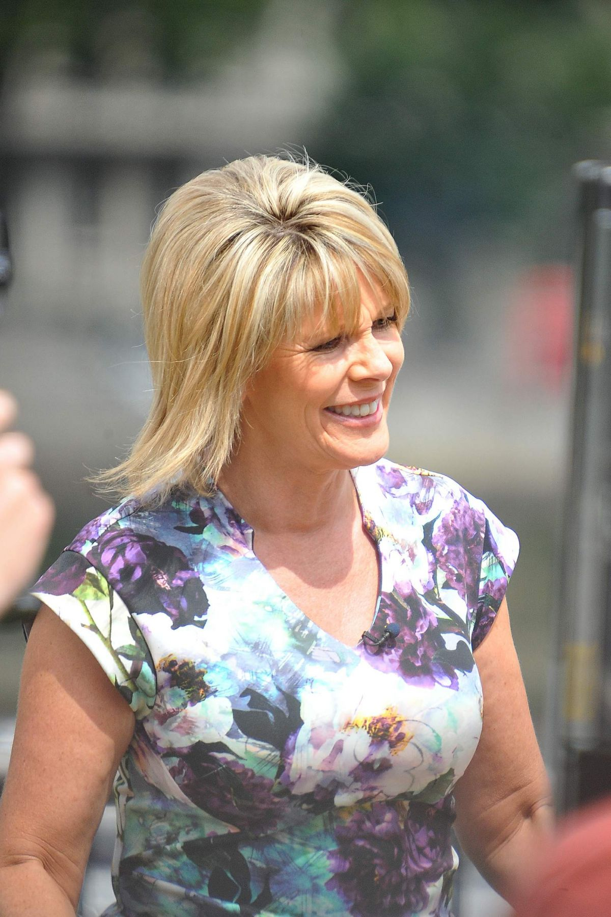 Ruth Langsford Seen on Londons Southbank for the This Morning show - Celebzz