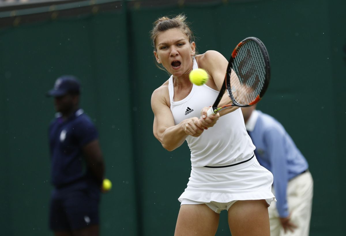 simona halep at 2nd round at the wimbledon tennis championships in london   celebzz   celebzz