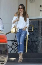 Sofía Vergara Strolled back to her vehicle after indulging in some retail therapy in Beverly Hills