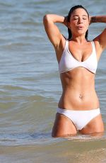 Tulisa Contostavlos In White Bikini at a Beach in Portugal