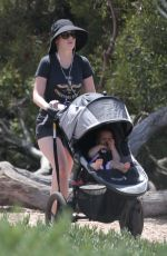 Zooey Deschanel Out with her baby in Los Angeles