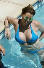 Jessica Wright Seen by the pool while on holiday in Las Vegas