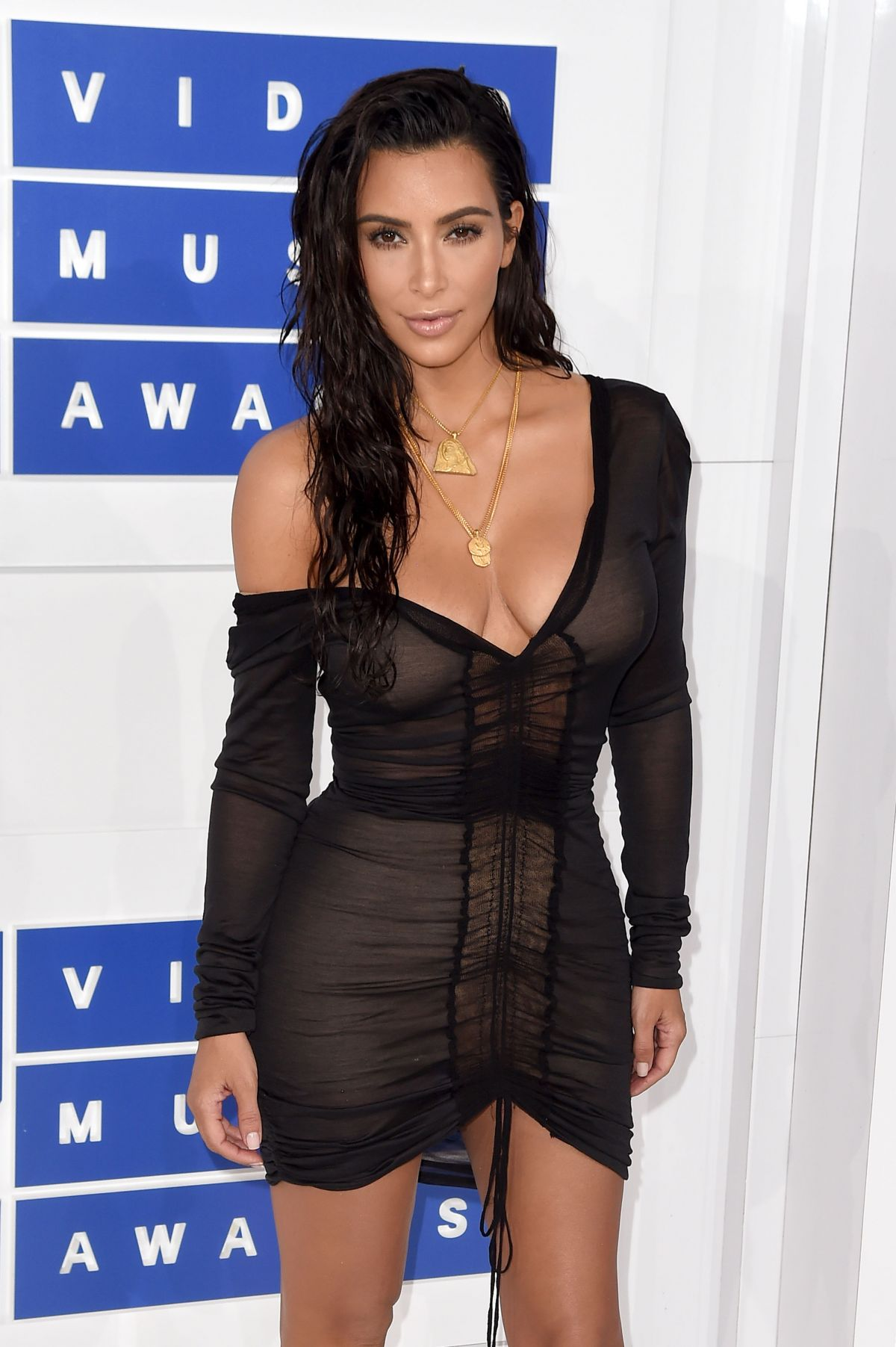 Kim Kardashian At 2016 MTV VMAs in NYC