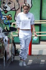 Kristen Stewart Leaving a pet store with Alicia and her dog Cole in Los Feliz