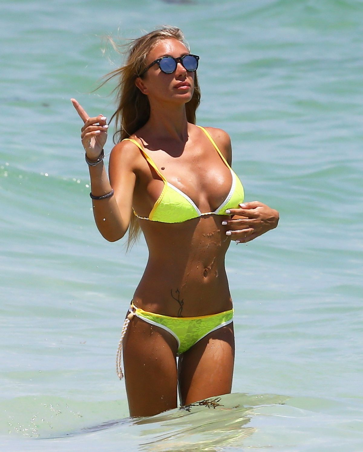 Laura Cremaschi In a bikini in the water in Miami