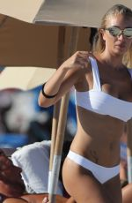 Laura Cremaschi In White Bikini on Miami Beach
