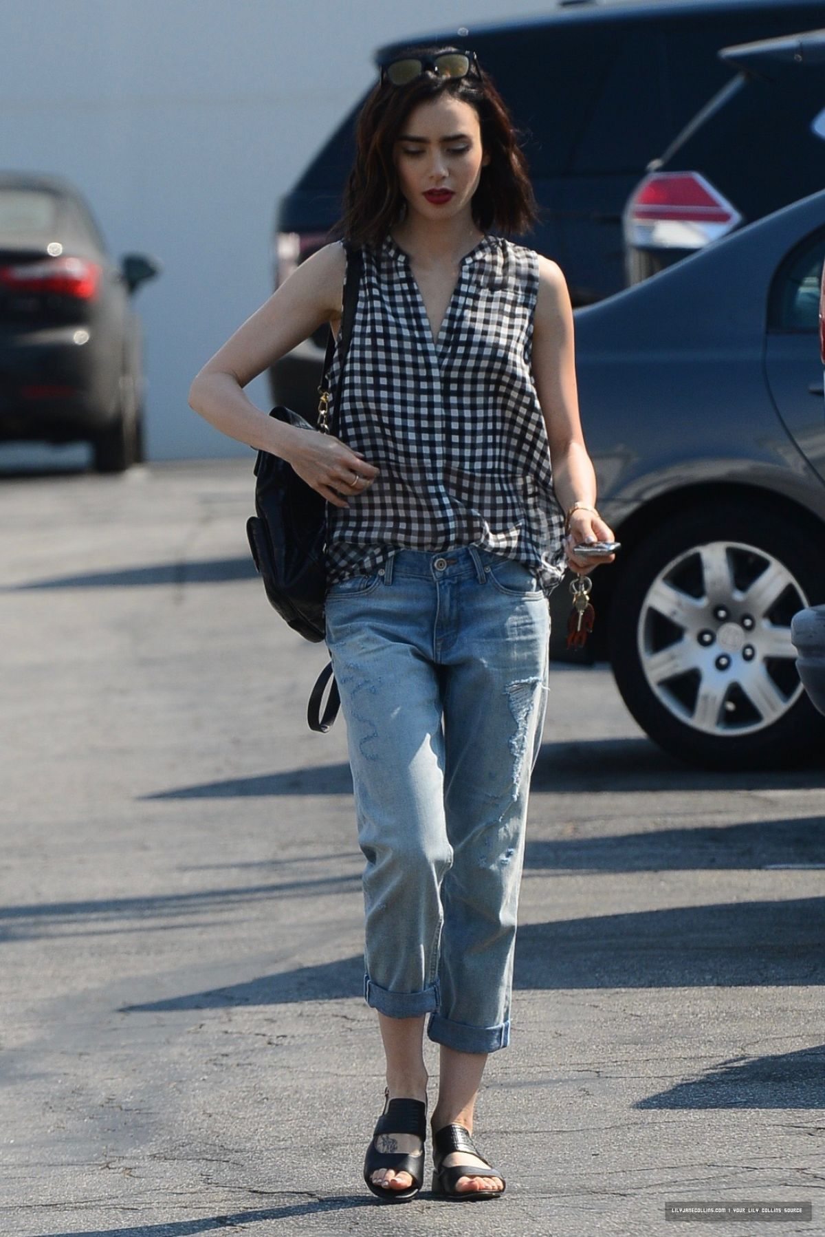 a9a059d29e Lily Collins Out in West Hollywood