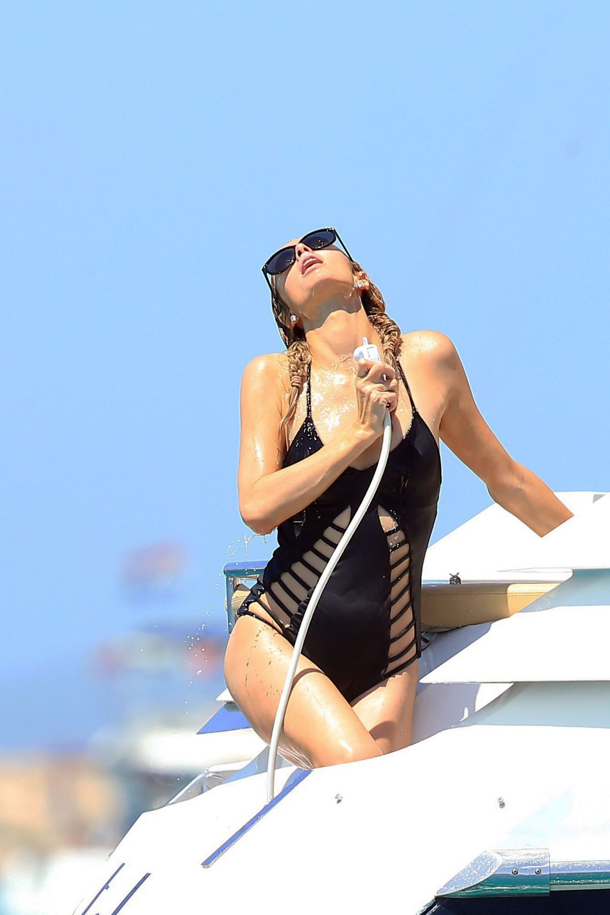 Paris hilton wearing a swimsuit in ibiza celebzz - Paris hilton ibiza ...