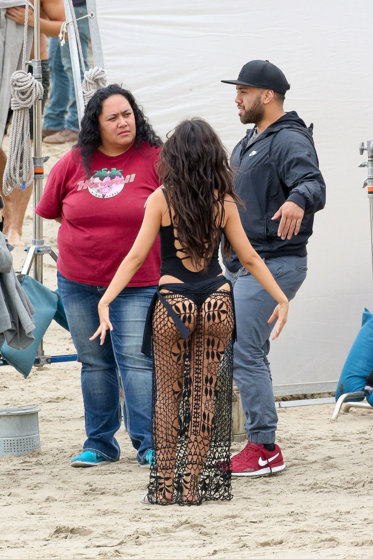 Camilla Cabello In a thong swimsuit on the set of All In