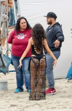 """Camilla Cabello In a thong swimsuit on the set of """"All In My Head"""""""
