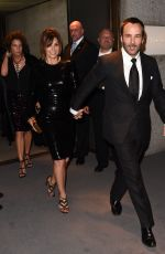 Gina Gershon At New York Fashion Week Tom Ford Show