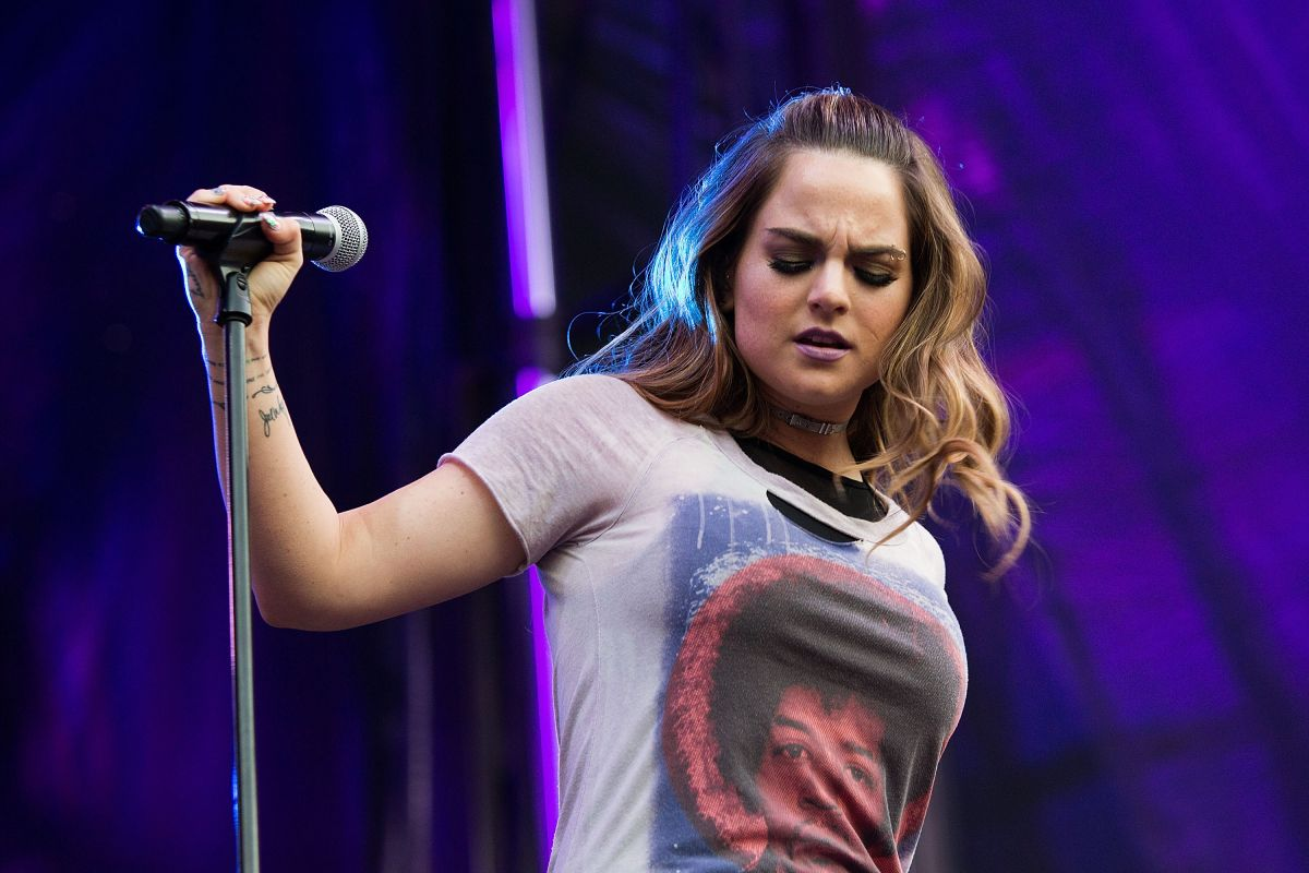 Joanna Jojo Levesque Performing at Bumbershoot at the Seattle Center in Seattle