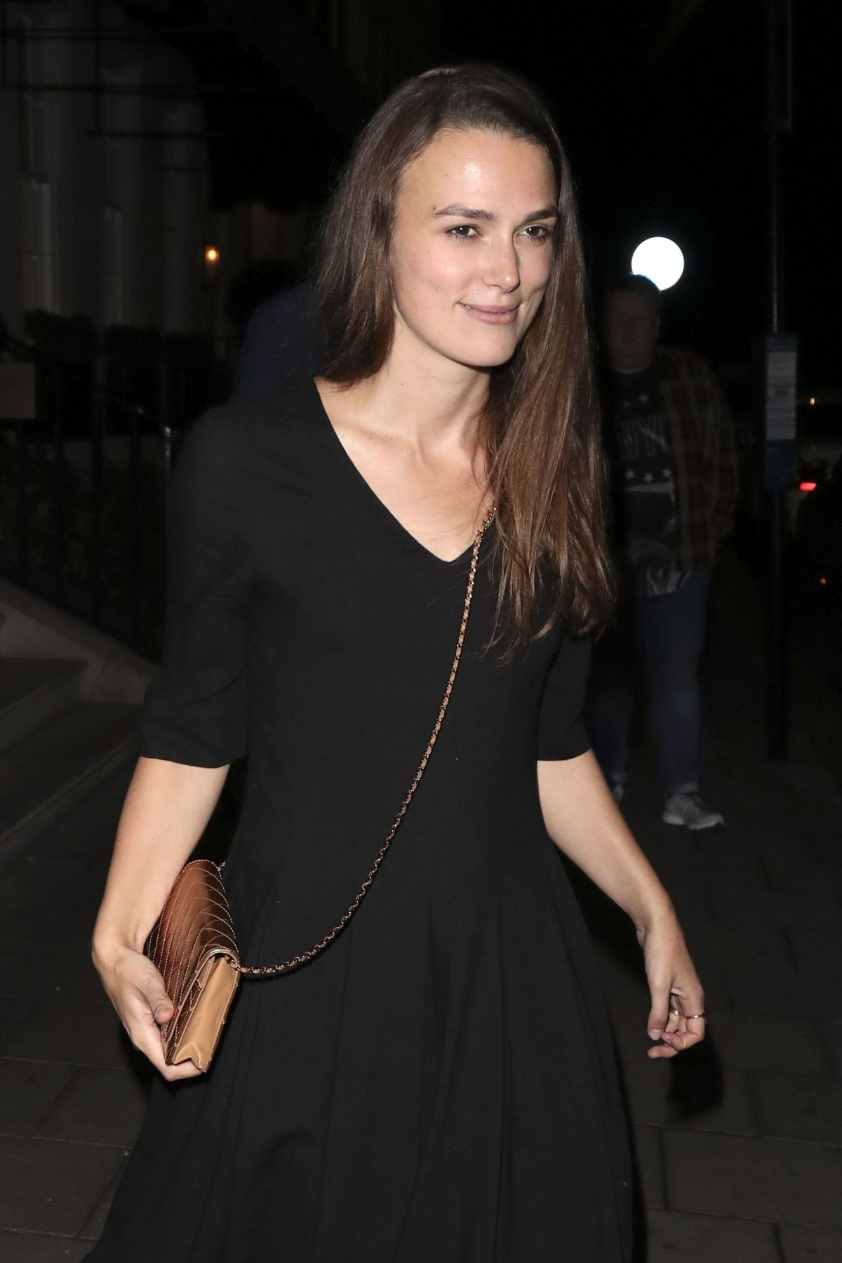 Keira Knightley Seen leaving 34 restaurant in London ... Keira Knightley
