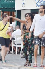 Nicole Scherzinger In a bikini top, on holiday in Portofino