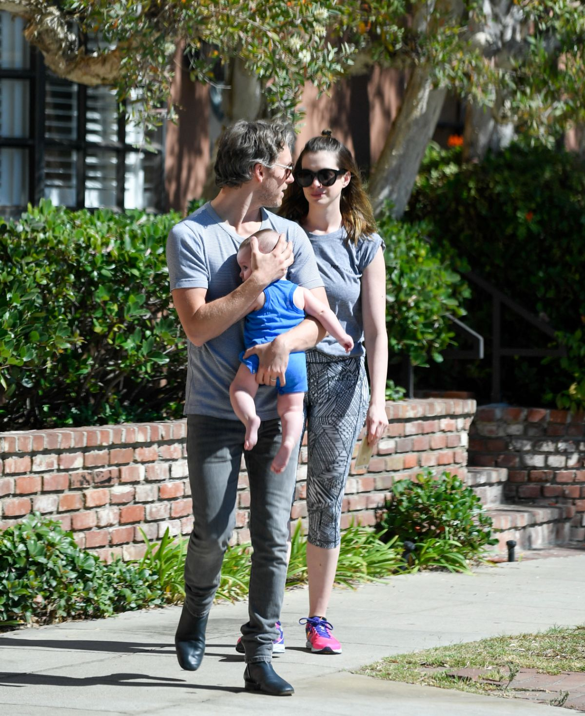 Anne Hathaway Seen With Her Family Out In Los Angeles