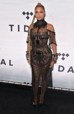 Beyonce Knowles At tidal x: 1015 in Brooklyn