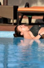 Gemma Atkinson Wearing a bikini by the pool in Cape Verde