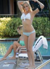 f8a9ac9dba407 Kate England In a bikini down by a pool in Miami