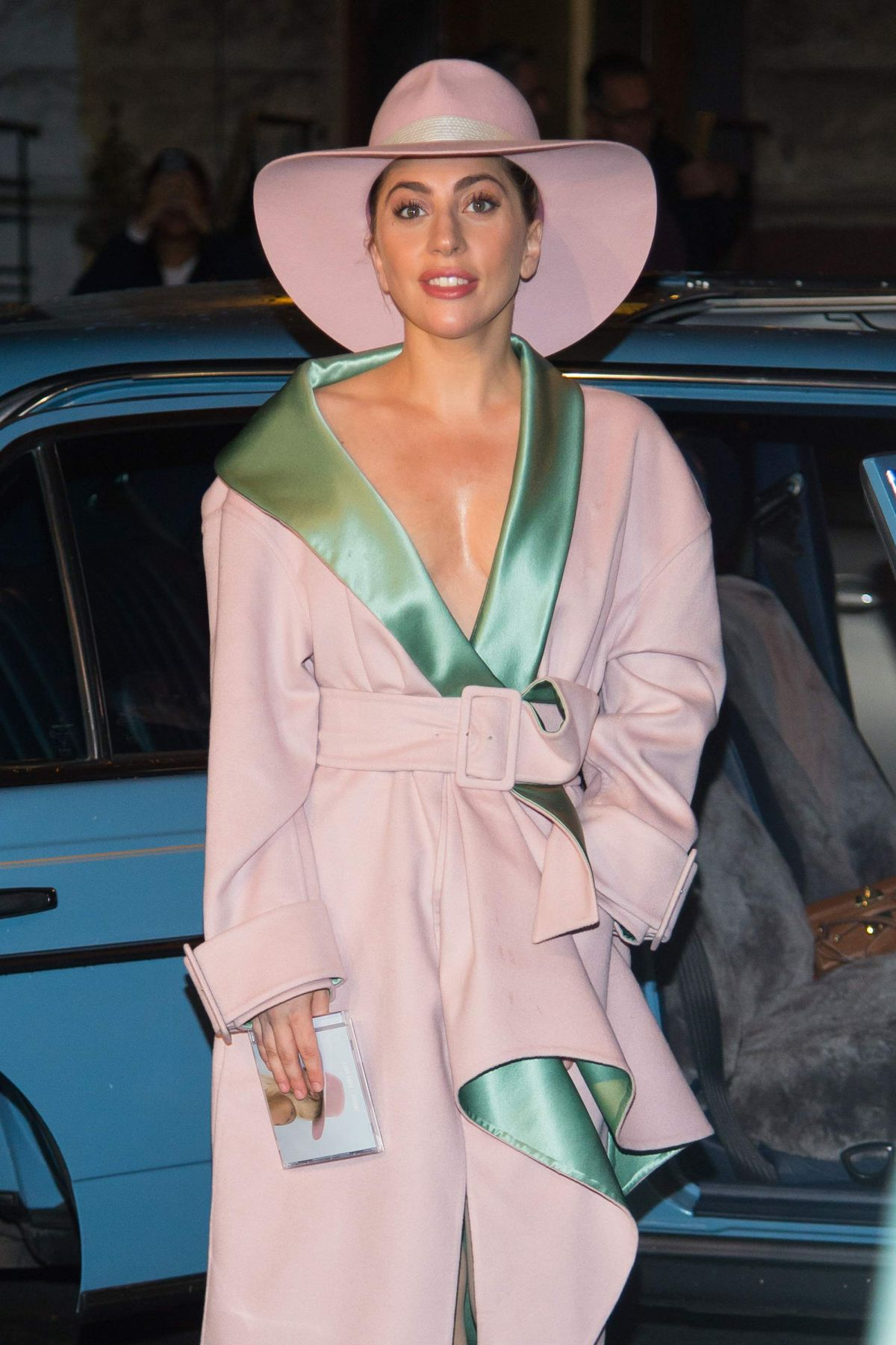 Lady Gaga Arrives at joanne's trattoria to sign her new ...