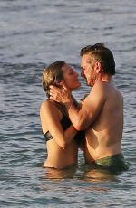 Leila George On vacation in hawaii with Sean Penn