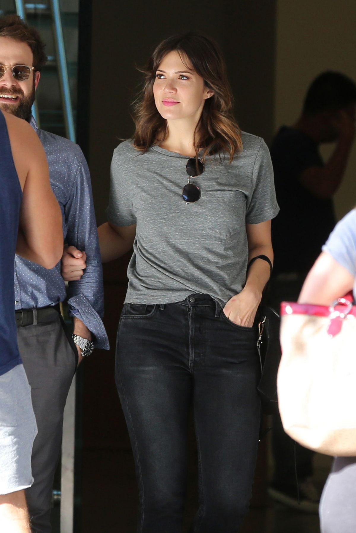 Mandy Moore Leaving the grove in Los Angeles