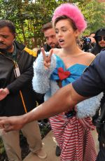 Miley Cyrus At campaigning for hillary clinton at george mason university in Virginia