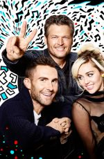 Miley Cyrus At The Voice - Promo Photoshoot 2016