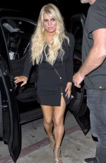 Jessica Simpson At Serfina a restaurant in West Hollywood