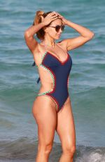 Larsa Pippen In swimsuit at the beach in Miami