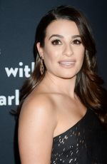 Lea Michele At The Grove Christmas with Seth MacFarlane Presented by Citi in Los Angeles