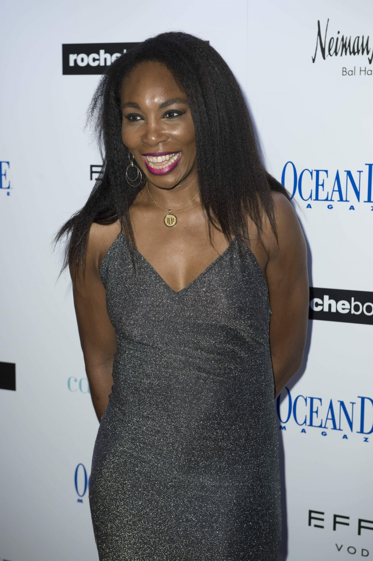 Venus Williams At Ocean Drive Magazine December Cover party in