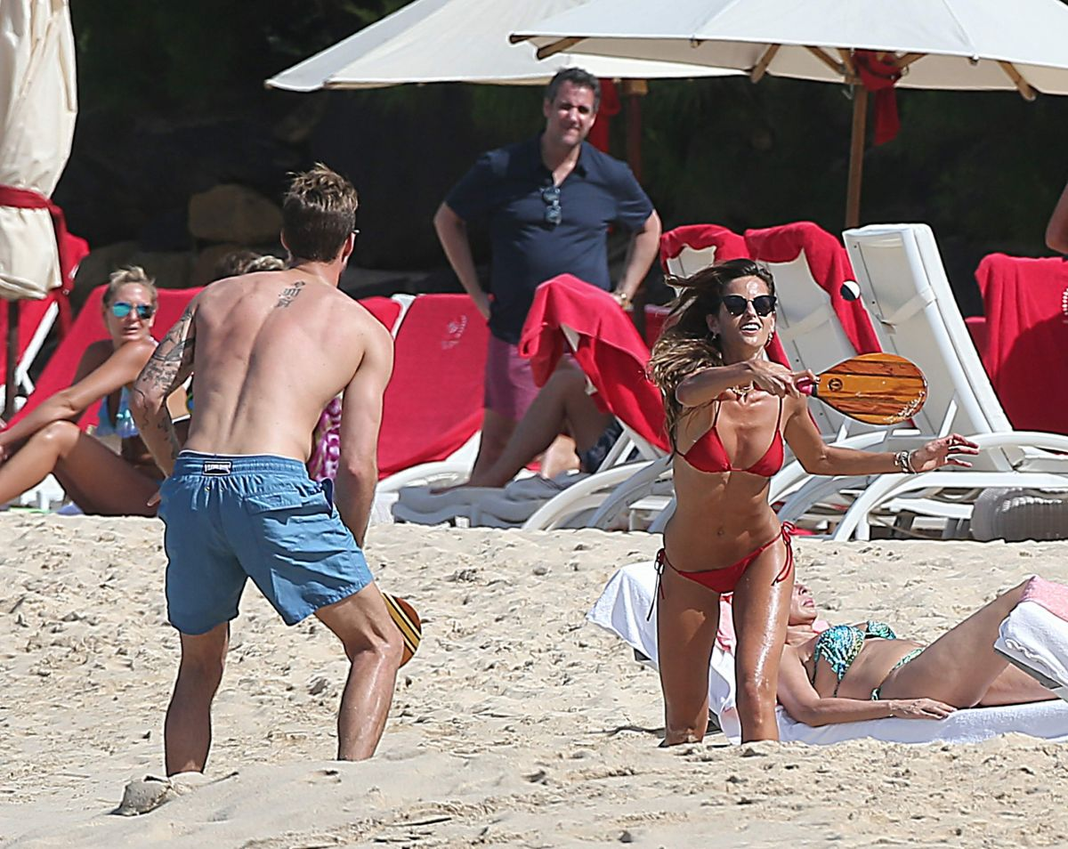 7cf127771a Izabel Goulart In Bikini on the beach of St Bart - Celebzz
